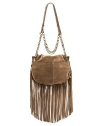 Ramy Brook | Brown Camile Fringe Satchel - Taupe | Lyst