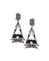 Lulu Frost - Matte Black Crystal Drop Earrings - Lyst