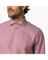 Tommy Hilfiger | Pink Cotton Dobby Fitted Shirt for Men | Lyst