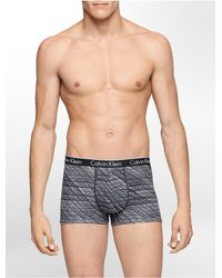 Calvin Klein | Black Underwear Ck One Cotton Stretch Trunk for Men | Lyst