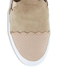 Klub Nico | Natural Stassi Suede And Leather Flats | Lyst