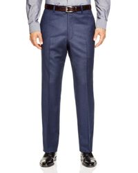 Hart Schaffner Marx - Blue Platinum Label Solid Classic Fit Trousers - 100% Bloomingdale's Exclusive for Men - Lyst