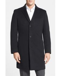 John W. Nordstrom - Black 'clifton' Cashmere Topcoat for Men - Lyst