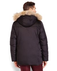 SOIA & KYO - Black Real Coyote Fur Hood Down Parka for Men - Lyst