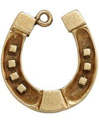 Annina Vogel - Metallic Vintage Gold Wide Horseshoe Charm - Lyst