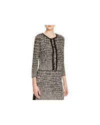Magaschoni - Black Texture Block Silk Cashmere Cardigan - Lyst