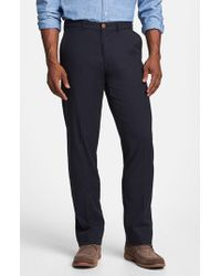 Tommy Bahama | Black 'bryant' Flat Front Pants for Men | Lyst