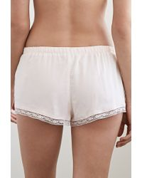 Forever 21 | Pink Lacy Pintucked Pj Shorts You've Been Added To The Waitlist | Lyst