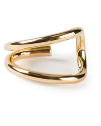 Saint Laurent - Metallic Double Curve Cuff - Lyst