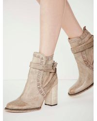 Free People | Natural Fp Collection Womens Heirloom Heel Boot | Lyst