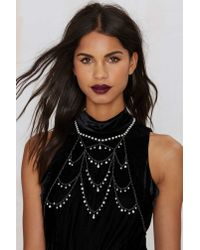 Nasty Gal | Metallic My Kind Of Pearl Body Chain | Lyst