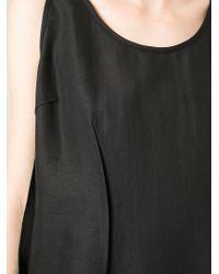 MM6 by Maison Martin Margiela | Black Short V Back Dress | Lyst