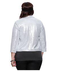 Forever 21 - Metallic Plus Size Sequined Blazer - Lyst