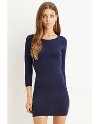 Forever 21 - Blue Classic Bodycon Dress - Lyst