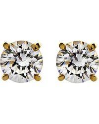 Carat* - Metallic Round 1ct Solitaire Stud Earrings - Lyst