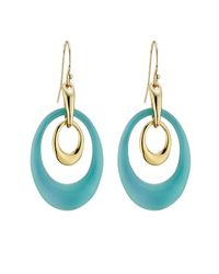 Alexis Bittar | Blue Alexis Bittar Basic Two Loop Earrings With Lucite - Gold | Lyst