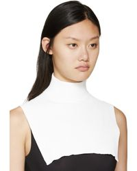 Cedric Charlier - White Ribbed Dickie - Lyst