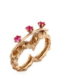 Voodoo Jewels | Metallic Desertica Lut Double Ring | Lyst