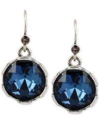 Kenneth Cole - Blue Faceted Round Bead Drop Earrings - Lyst