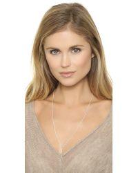 Helen Ficalora | Metallic Key Charm - Silver | Lyst