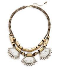 Saks Fifth Avenue | Metallic Howlite Chain Statement Necklace | Lyst