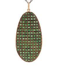 Ileana Makri | Green Pink Gold Shield Necklace  | Lyst