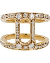 Hoorsenbuhs Metallic Diamond Gold Dame Phantom Ii Ring