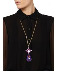Matthew Williamson | Purple Geometric Pendant Necklace | Lyst