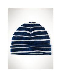 Polo Ralph Lauren - Blue Striped Cotton Hat - Lyst