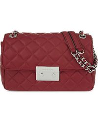 MICHAEL Michael Kors | Red Sloan Large Quilted Leather Shoulder Bag | Lyst