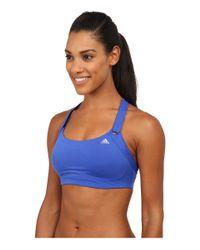 Adidas | Blue High-impact Bra | Lyst