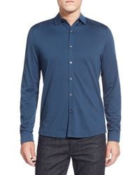 Robert Barakett | Blue 'braydon' Regular Fit Sport Shirt for Men | Lyst