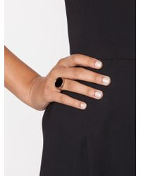 Ginette NY - Black Stone Ring - Lyst