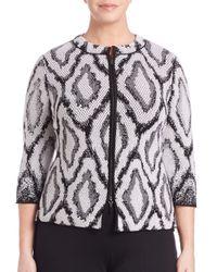 Stizzoli - Black Snake-print Knit Jacket - Lyst