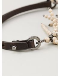 Brunello Cucinelli | White 'Riverstone' Necklace | Lyst