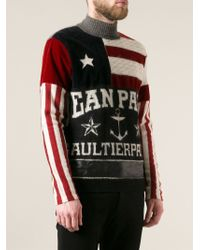 Jean Paul Gaultier - Multicolor Anchor Flag Print Jumper for Men - Lyst