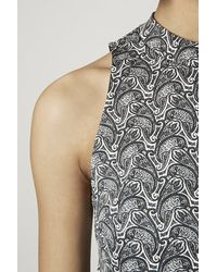 TOPSHOP - Black Paisley Print Tunic Dress - Lyst