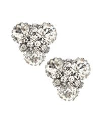 Lydell NYC - Metallic Crystal Cluster Triangle Stud Earrings - Lyst