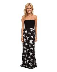 Hurley | Black Tomboy Maxi Strapless Dress | Lyst