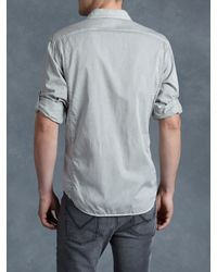 John Varvatos | Gray Cotton Utility Shirt for Men | Lyst