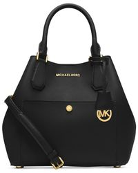 Michael Kors | Black Michael Greenwich Large Grab Bag | Lyst