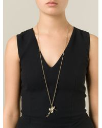 Shaun Leane | Metallic 'cherry Blossom' Topaz Long Pendant Necklace | Lyst