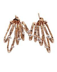 Mattia Cielo - Pink Rugiada Hoop Earrings - Lyst