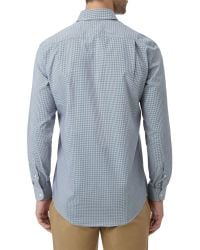 Lacoste - Blue Mini-check Long Sleeved Shirt for Men - Lyst
