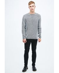 Cheap Monday - Gray Curve Knit Jumper In Mono for Men - Lyst