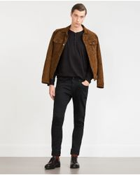 Zara | Black Button Neck Top for Men | Lyst
