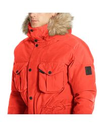 Ralph Lauren | Red Down Parka for Men | Lyst