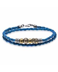 Platadepalo | Blue Denim Coloured Bracelet With Silver | Lyst