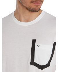 True Religion | White Plain Crew Neck T-shirt Regular Fit for Men | Lyst