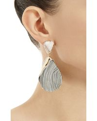 Kara Ross - Blue One Of A Kind 18k Gold Cocina White Quartz and Diamonds Petra Earrings - Lyst